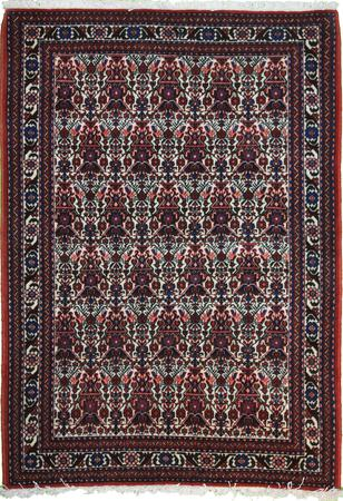 """Hand Knotted Persian 4145-1498 Wool 3'5"""" x 5'3"""" Ivory"""