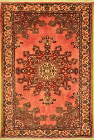 """Hand Knotted Persian 8086-15 Wool 4'5"""" x 6'7"""" Pink"""