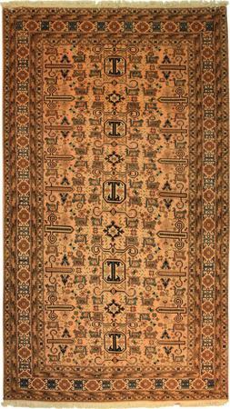 "Hand Made Persian 2705-51900 Wool 5'4"" x 8'11"" Tan"