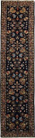 """Hand Knotted Persian MAHAL Wool 2'6"""" x 10'3"""" Blue"""