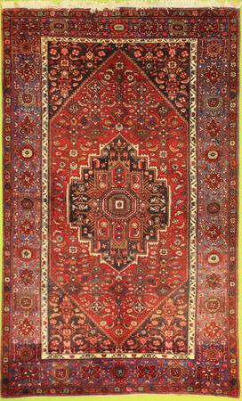 """Hand Knotted Persian 2452-22108 Wool 4' x 6'9"""" Red"""