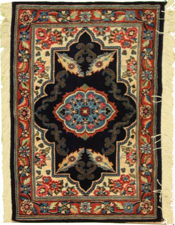 Hand Knotted Persian sar-1519 Wool 2' x 3' Blue DK