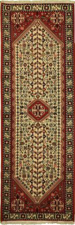 """Hand Made Persian Abade Wool 2'7"""" x 7' Ivory"""