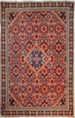 "Hand Made Persian 427-1480 Wool 4'3"" x 6'8"" Rust"