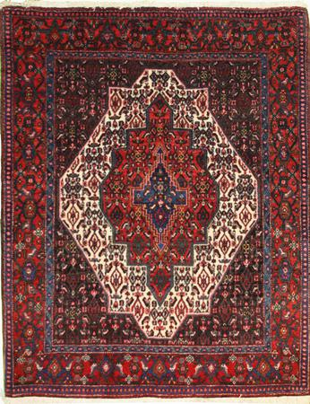 """Hand Made Persian 1903-1675 Wool 4' x 5'3"""" Ivory"""