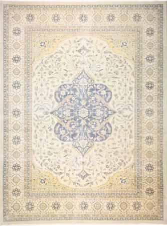 Hand Knotted Pakistan Tabriz Wool 10'2''x13'2'' L. BLUE