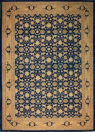 Hand Knotted Pakistan Malayer Wool 8'11''x11'10'' Blue DK