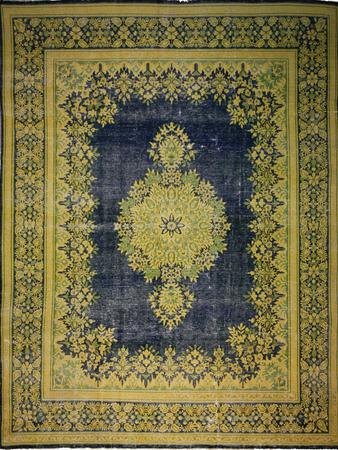 Hand Knotted Pakistan Kerman Wool 9'7''x12'6'' Blue