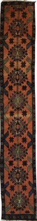 Hand Made Persian Wool Ardabil Pink 1'9''x10'5'' Rug
