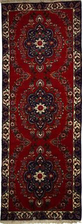 """Hand Made Persian RUG EXPO Wool 3'8"""" x 9'7"""" Red"""