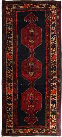 """Hand Made Persian RUG EXPO Wool 4'5"""" x 9'7"""" Brown"""