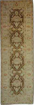 "Hand Made Pakistan Wool Pakistani brown lt Rug 2'5"" x 7'11"""