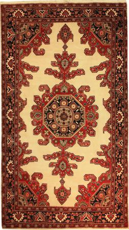 """Hand Knotted Persian 5X9 PER Wool 5'3"""" x 9'2"""" Ivory"""