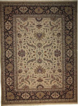 Hand Knotted India Wool 8'11''x11'9'' BROWN