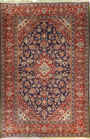"""Hand Knotted Persian  Wool 4'6"""" x 7' Blue DK"""