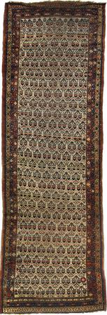 """Hand Knotted Persian SHIRVAN Wool 4' x 12'2"""" Ivory"""