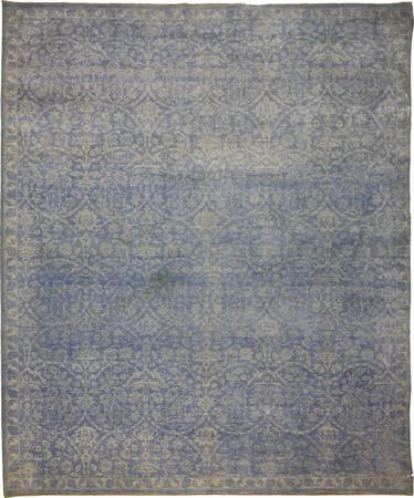 Hand Knotted India Wool 8'10''x11'10'' Blue
