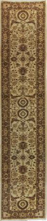 "Hand Made Pakistan Wool Pakistani brown lt Rug 2'5"" x 12'"