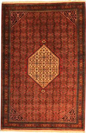 "Hand Made Persian VATAN , BIDJAR Wool 6'9"" x 10' Red"