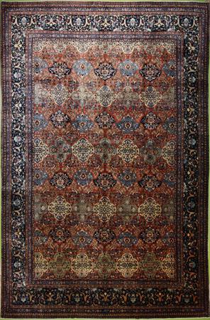 "Hand Made Persian VATAN, SARRAB Wool 10'11"" x 15'10"" Rust"