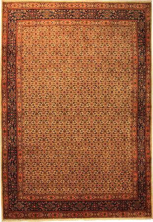 "Hand Made Persian Mood Wool 6'11"" x 10'3"" Ivory"