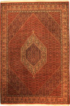 "Hand Made Persian VATAN , BIDJAR Wool 6'9"" x 10' Rust"