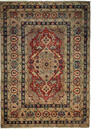 """Hand Made India Wool Indian Red Rug 8'4"""" x 11'4"""""""