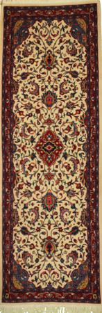 """Hand Knotted Persian Kashan Wool 2'5"""" x 6'10"""" Ivory"""