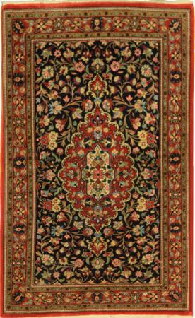 """Hand Knotted Persian  Wool 2'6"""" x 3'10"""" Blue"""
