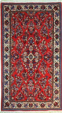 Hand Knotted Persian Kashan Wool 4'3