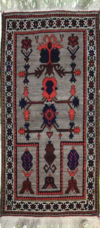 Hand Knotted Persian Gabbeh Wool 2'10