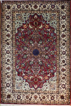 Hand Knotted Persian  Wool 4'10