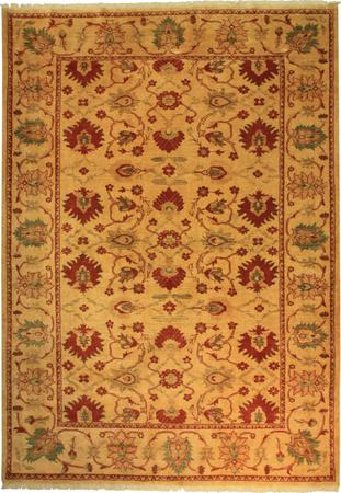 Hand Knotted Persian Wool MAHAL Beige 6'x9' Rug