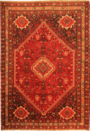 """Hand Knotted Persian  Wool 7' x 10'3"""" Red"""