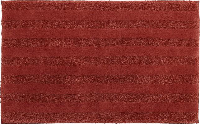 Mohawk Basic Stripe Bath Rug Basic Red/Burgundy