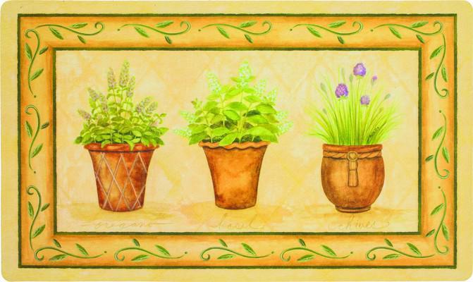 Mohawk Comfort Mat Potted Herb Garden Beige/Tan