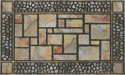 Mohawk Doorscapes Manor Mat Patio Stones Gray/Silver