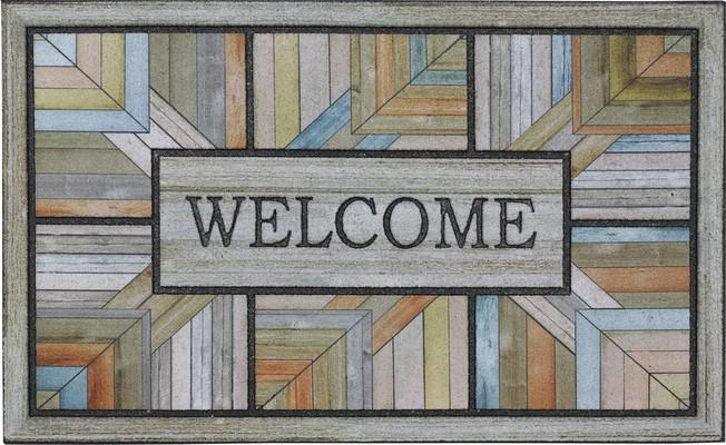 Mohawk Doorscapes Mat Colorful Roots Gray/Silver