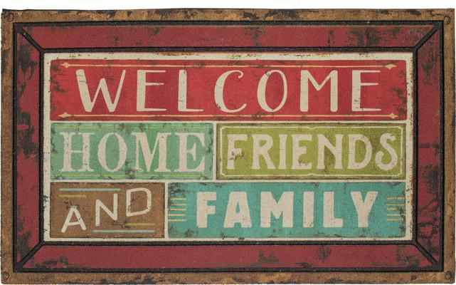 Mohawk Doorscapes Mat Family Shine Welcome Red/Burgundy