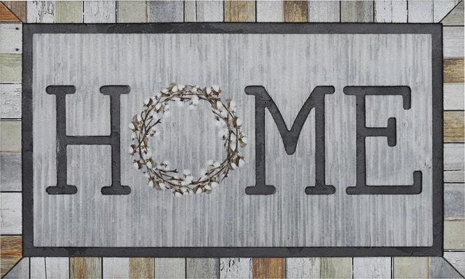 Mohawk Doorscapes Mat Homestead Wreath Tin Gray/Silver