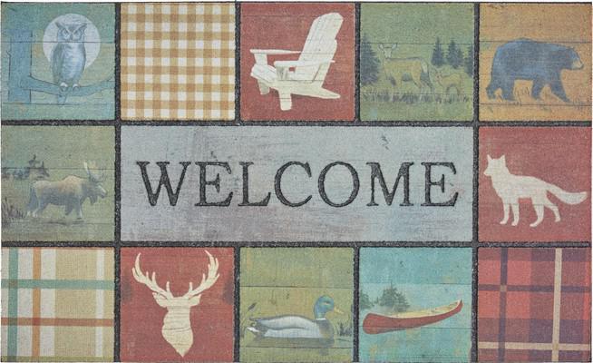 Mohawk Doorscapes Mat Welcome Lodge Tiles Multi