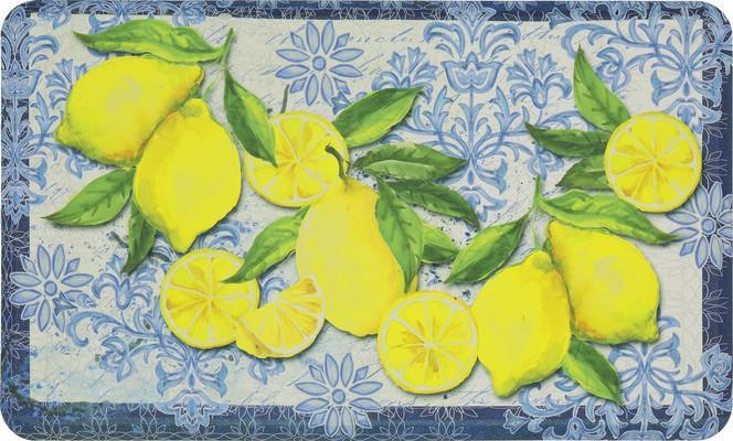 Mohawk Dri- Pro Comfort Mat Classy Italian Lemons Blue/Navy
