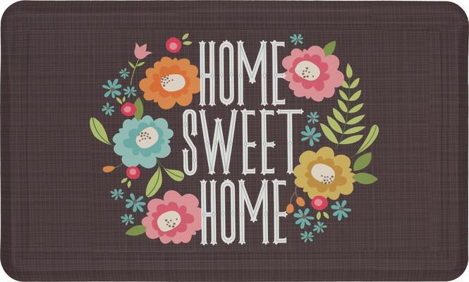 "Mohawk Dri- Pro Comfort Mat Home Sweet Home Brown 1'6""X2'6"""
