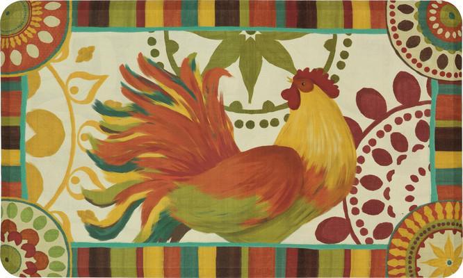 "Mohawk Dri- Pro Comfort Mat Painted Spice Rooster Orange/Rust 1'6""X2'6"""