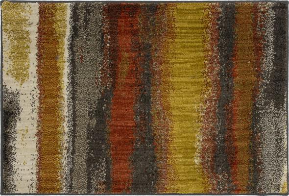 "Karastan Elements Odin Orange/Rust 2'0"" X 3'0"""