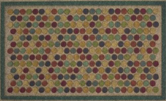 Mohawk Ornamental Entry Mat Colorful Dots Beige/Tan