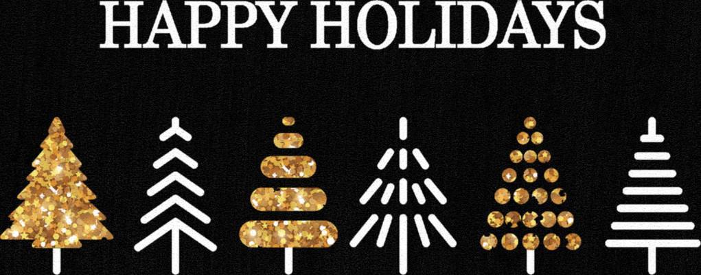 "Mohawk Prismatic Holiday Trees Black 2'0""X3'4"""