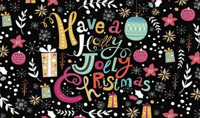 "Mohawk Prismatic Jolly Christmas Black 2'0""X3'4"""