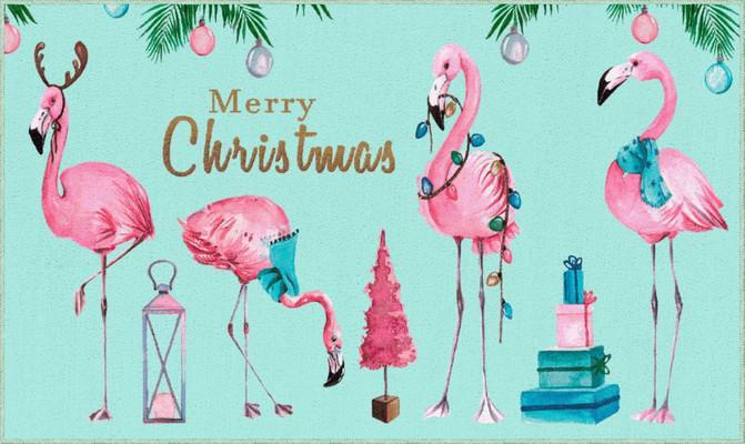 "Mohawk Prismatic Merry Flamingos Blue/Navy 2'0""X3'4"""