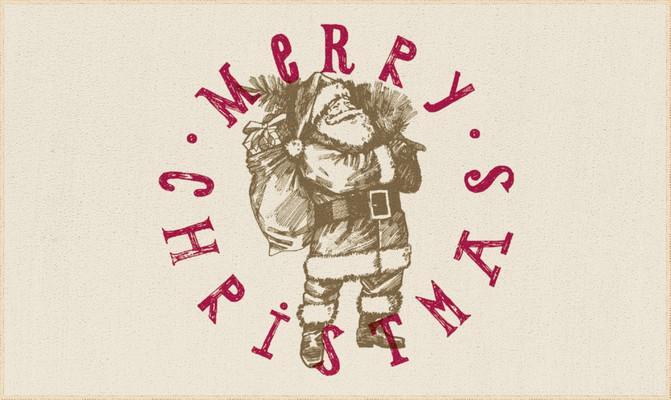 "Mohawk Prismatic Vintage Santa White/Ivory 2'0""X3'4"""
